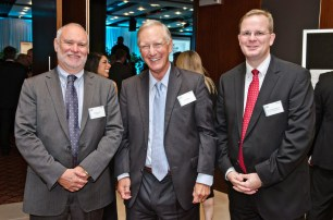 Deloitte chairman Murray Jack, management guru Tom Peters, Dr Oliver Marc Hartwich (March 2014)