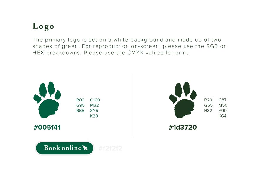 Brand Guideline design for Paws In Keevil by Oliver Milburn