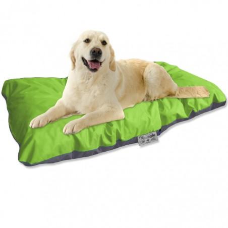 coussin d exterieur pour chien gris anis reversible 105x60cm