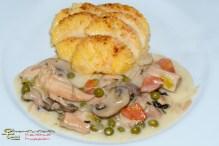 Hühnerfrikassee mit Gnocchi allla Romana