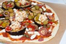 Auberginen Schafskäse Pizza