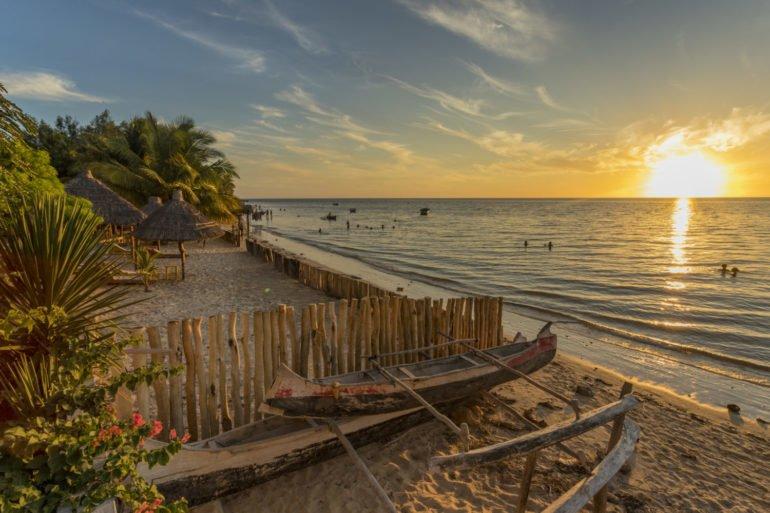Stranden ved Ifaty nær Tulear i sydvestre delen av Madagaskar