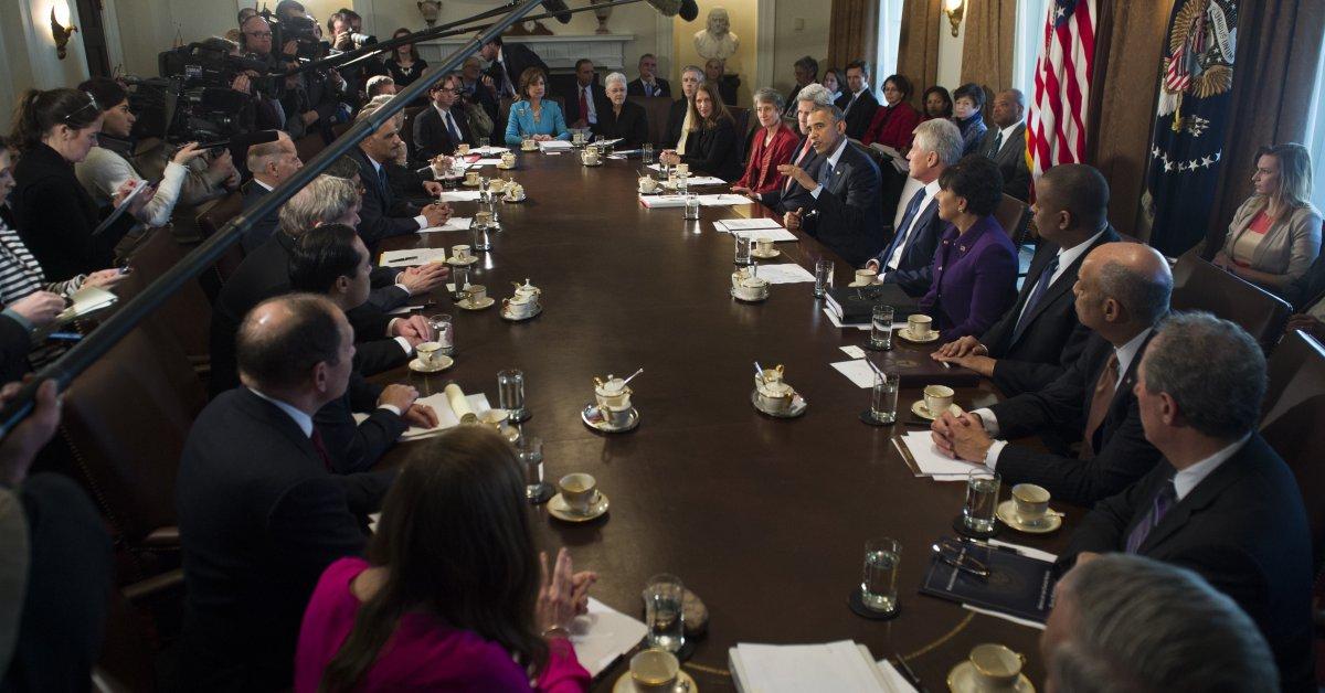 Obama Cabinet Meeting