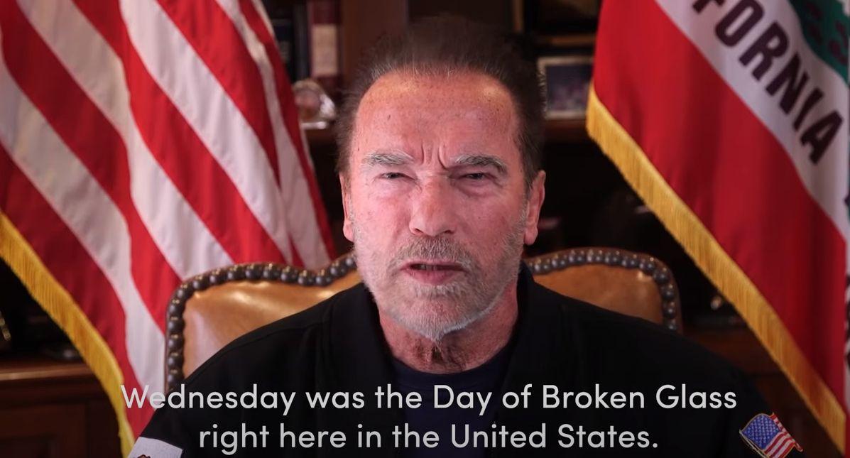 Arnold Schwarzenegger Capitol Attack Video