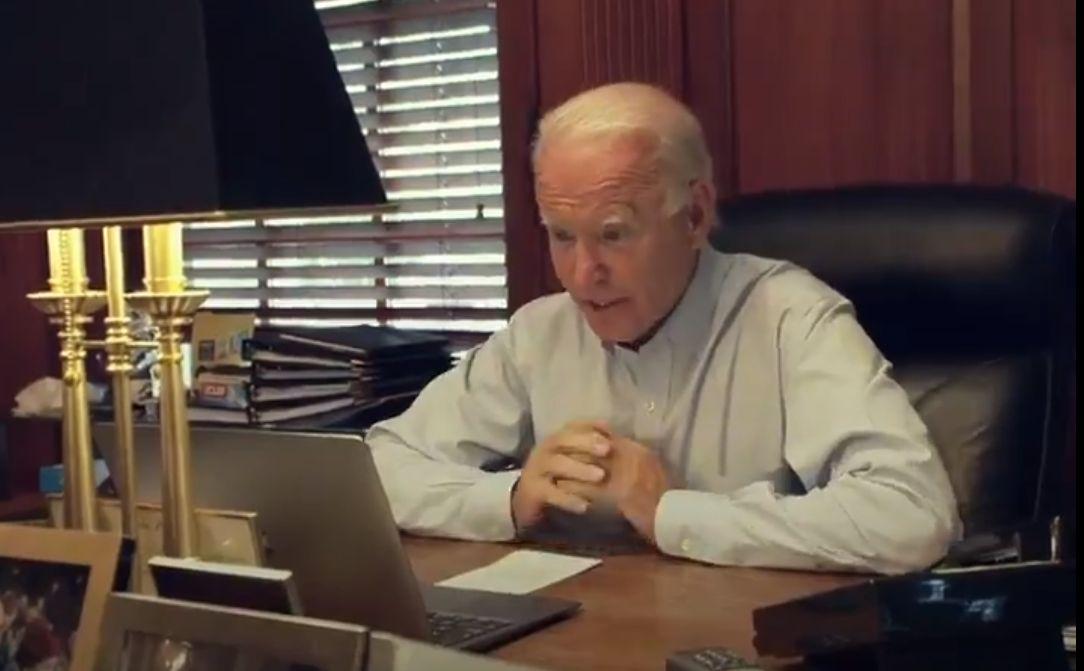 Joe Biden On Computer