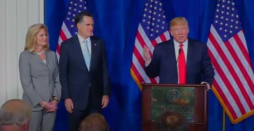 Donald Trump Endorses Mitt Romney In 2012