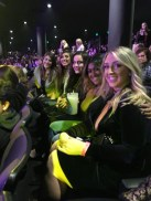 Katy and her friends at the Britney concert