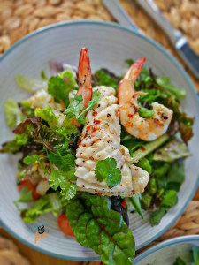 Calamari prawn seafood salad healthy