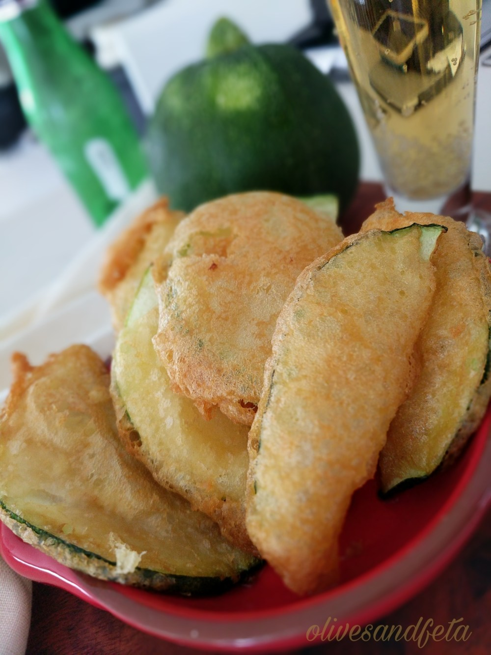Crispy Beer Battered Zucchini Wedges , vegetable recipes, vegan zucchini recipes