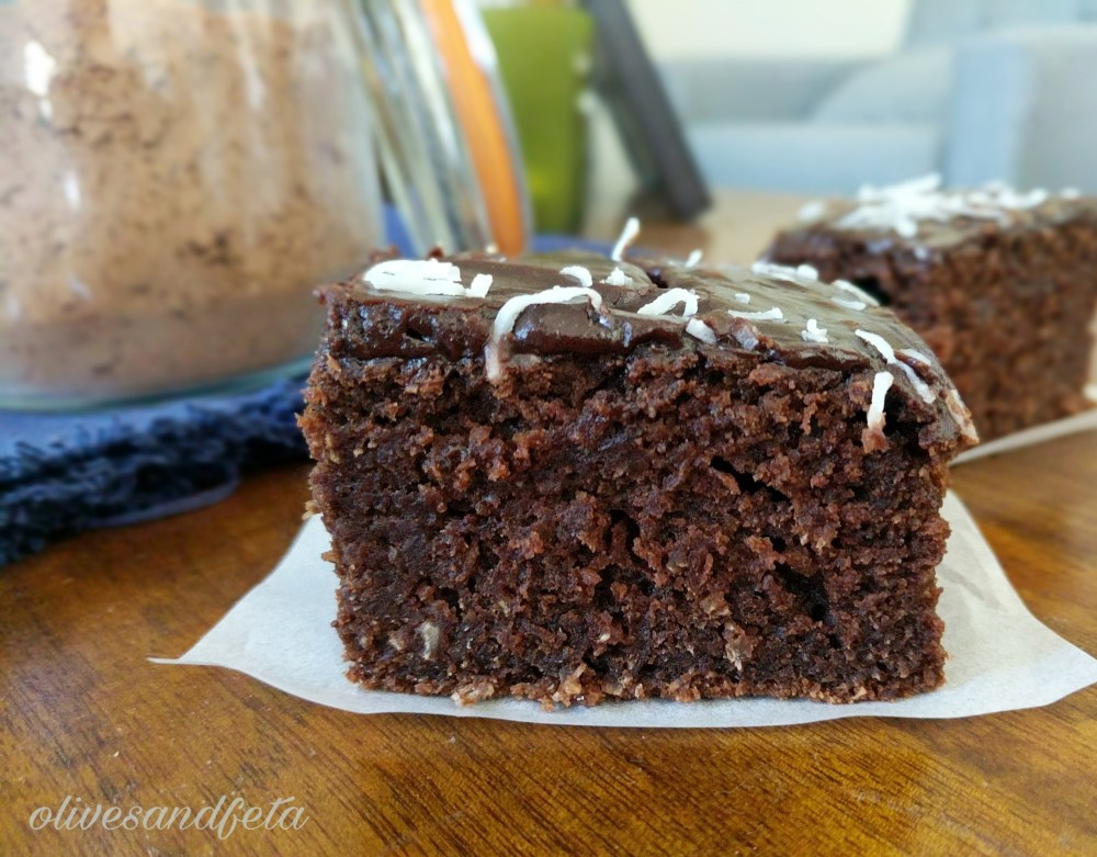 Quick Mix Chocolate coconut dessert cake