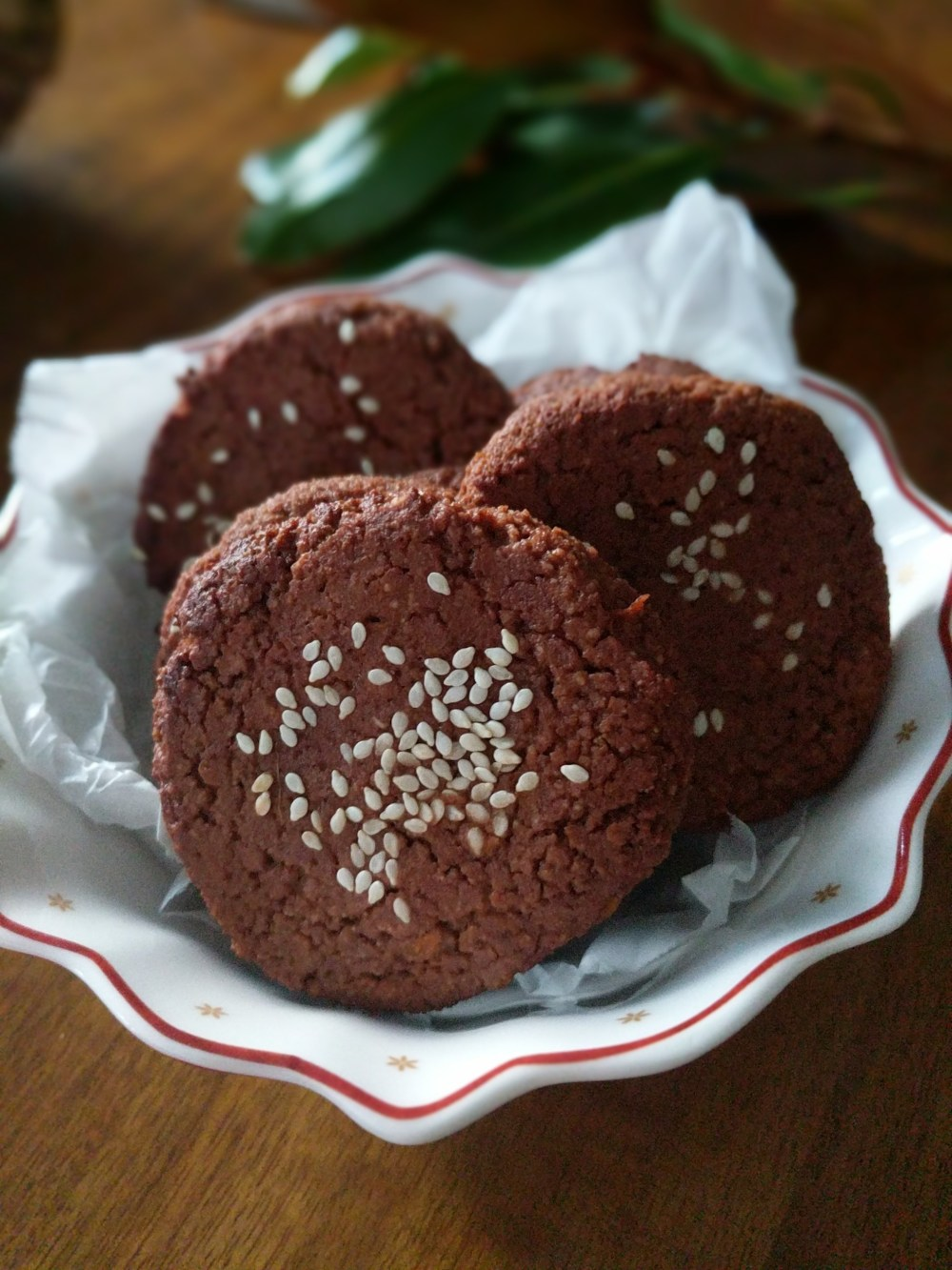 Chocolate Sweet potato biscuits cookies vegan
