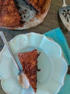 flourless chocolate cake with almond