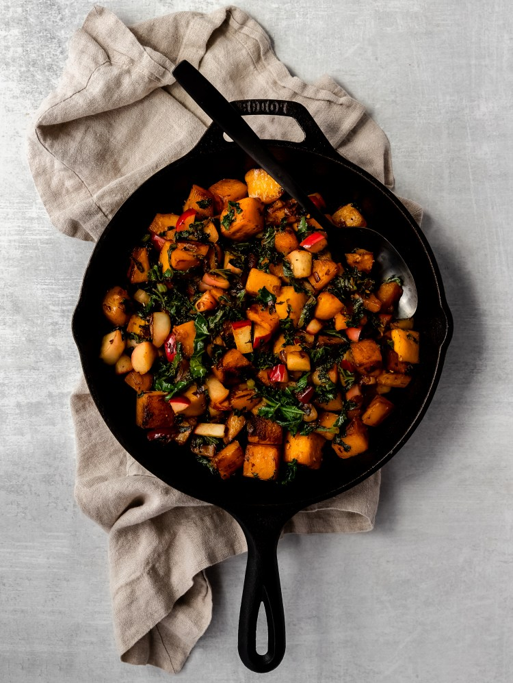 easy autumn skillet hash