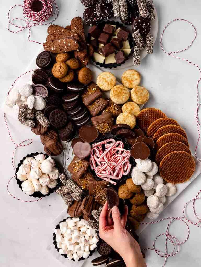 easiest holiday dessert gathering board