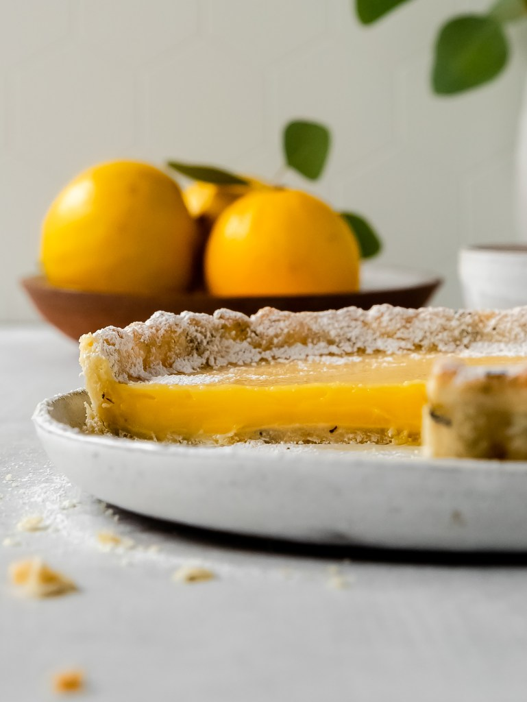bergamot lemon earl grey tart