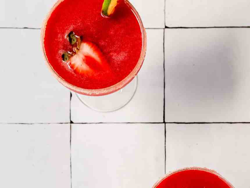 summer berry margarita on tiles