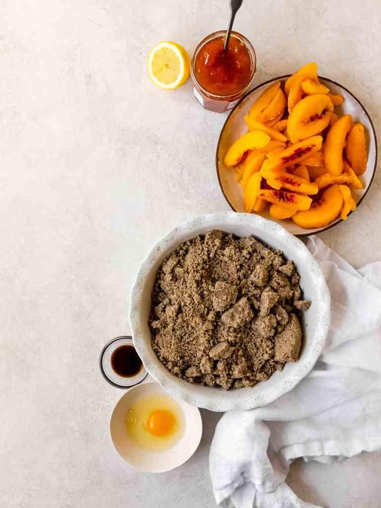 peach buckwheat crumble bars