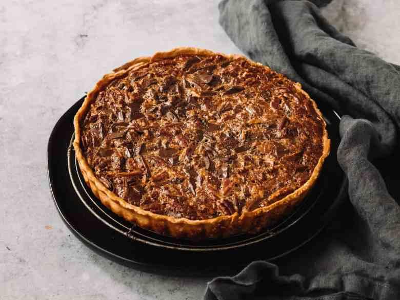 chocolate maple pecan tart