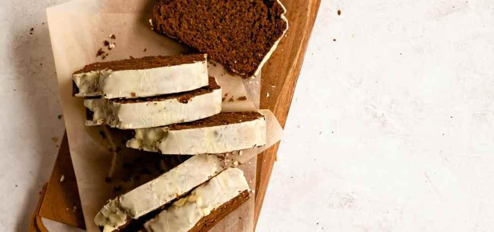 citrus glazed gingerbread loaf cake