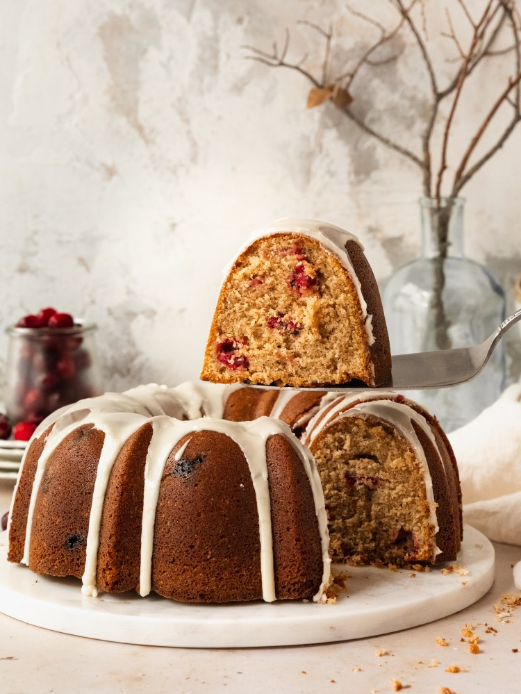 cranberry orange blossom bundt
