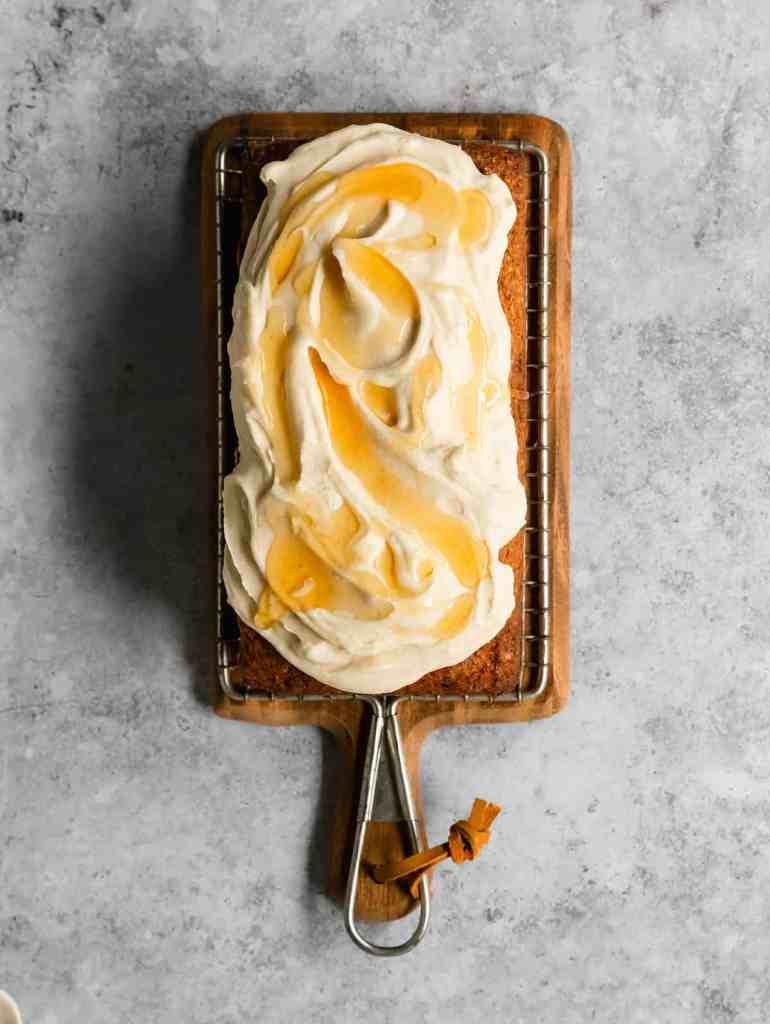 brown butter parsnip loaf cake
