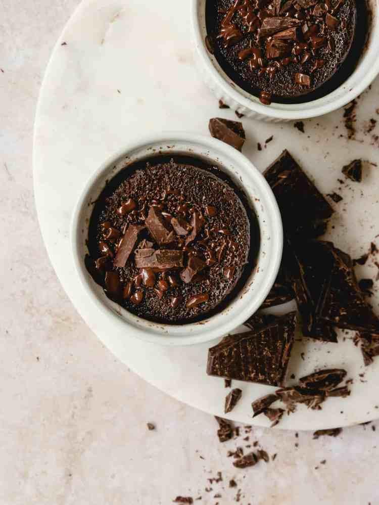 chocolate tahini mug cake