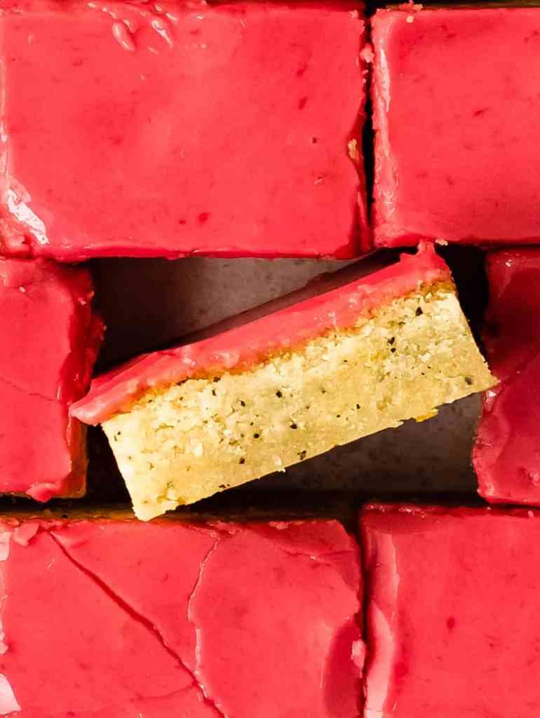 blood orange cookie bar
