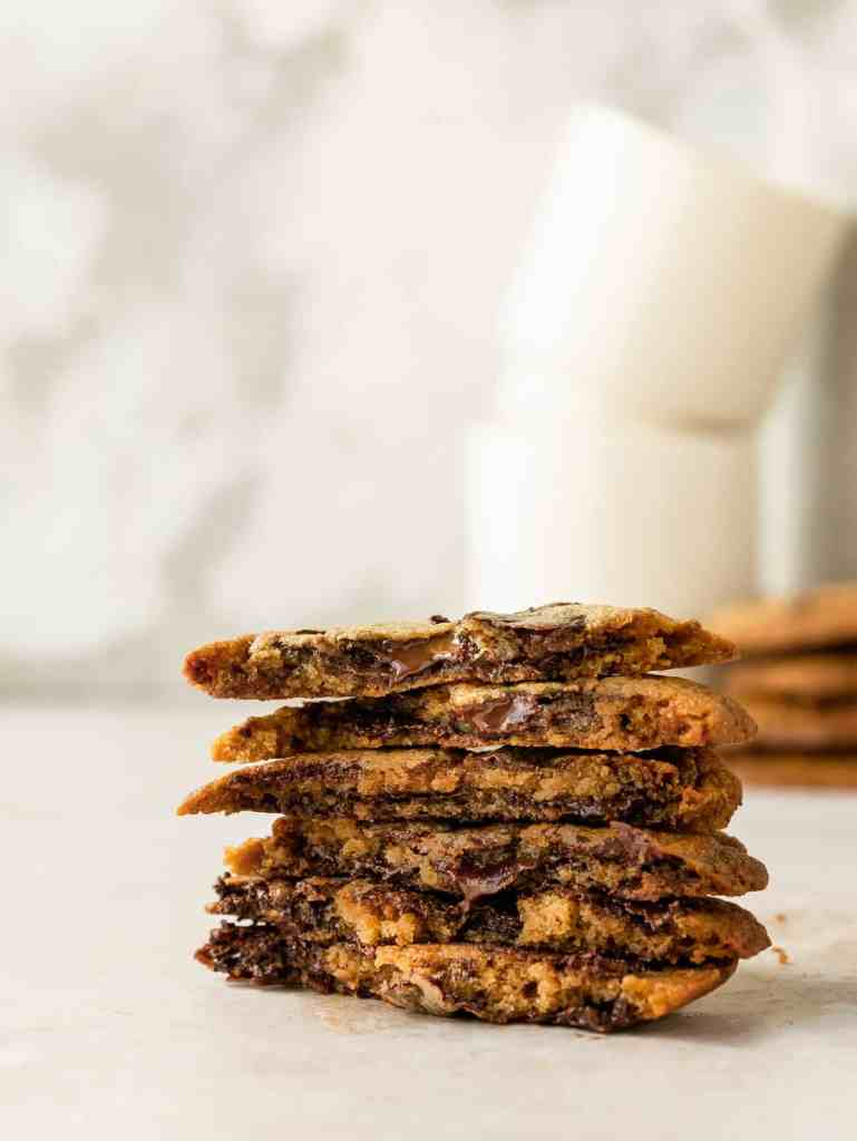 bourbon toffee chocolate chip cookies