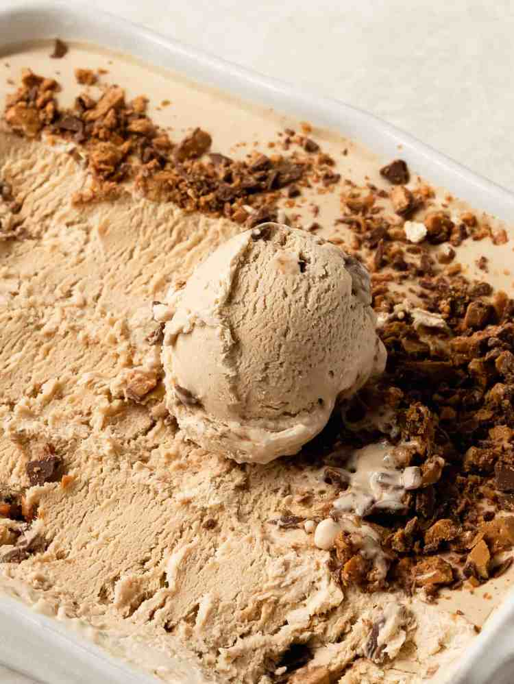 Guiness toffee ice cream