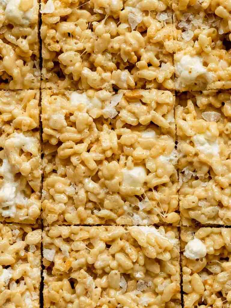 maple tahini Rice Krispie treats