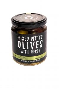 Mixed pitted with herbs olive jar (award winning)