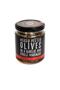 Chilli and garlic olive jar