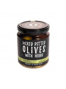 Mixed Pitted Olives with herbs