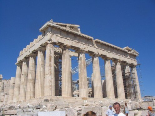 The Parthenon on the Acropolis