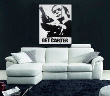 Michael Caine- Get Carter Cycled Pallet Wood Wall Art