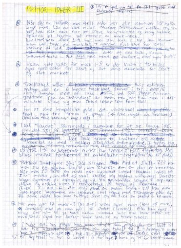 Editor Ideas III (Page 1)