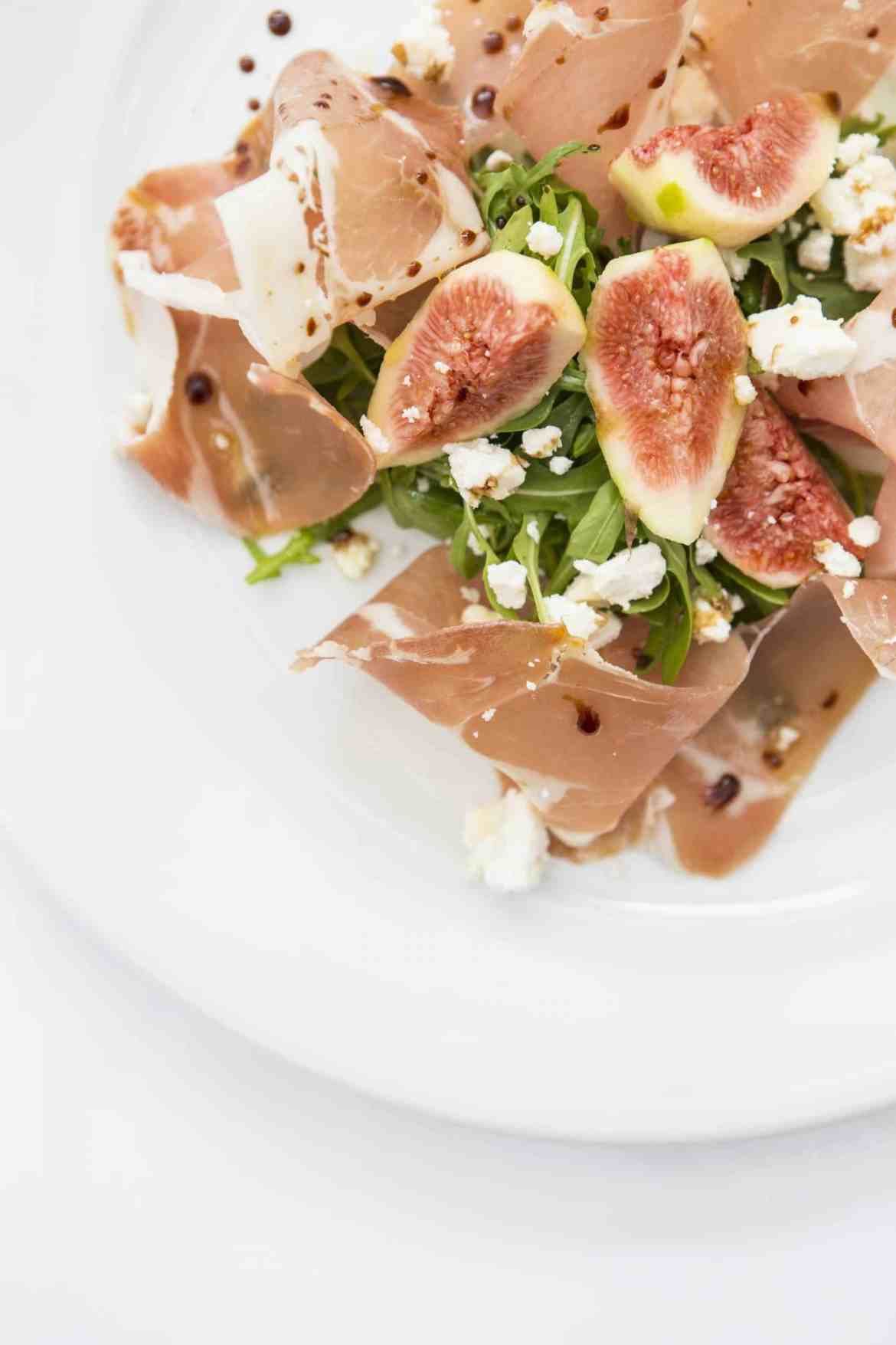 Prosciutto e Fichi parma ham with fresh figs, goat cheese crumbled & aged balsamic gf   -£8 (2)