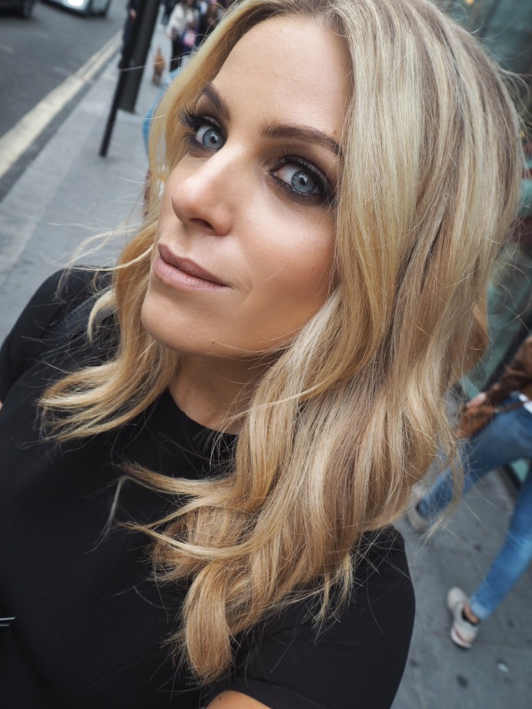Olivia Cox, neville, hair and beauty, red carpet, blonde, day dress, ascot, red carpet, premiere, candice, glow and dry, beauty blogger, tv presenter, rose gold, smokey eye, nude lip, matte lip, discount
