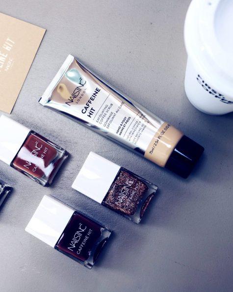 olivia cox, nails inc, caffeine, caffeine hit, coffee, coffee fix, rise n grind, nails, mani, nails inc, glitter, chrome, unicorn, beauty, influencer, bblogger