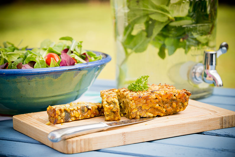 Carrot and pine nut roast