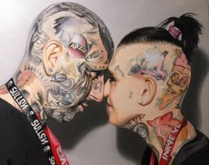 """""""Ink Life"""" Óleo sobre lienzo 100x85cm"""