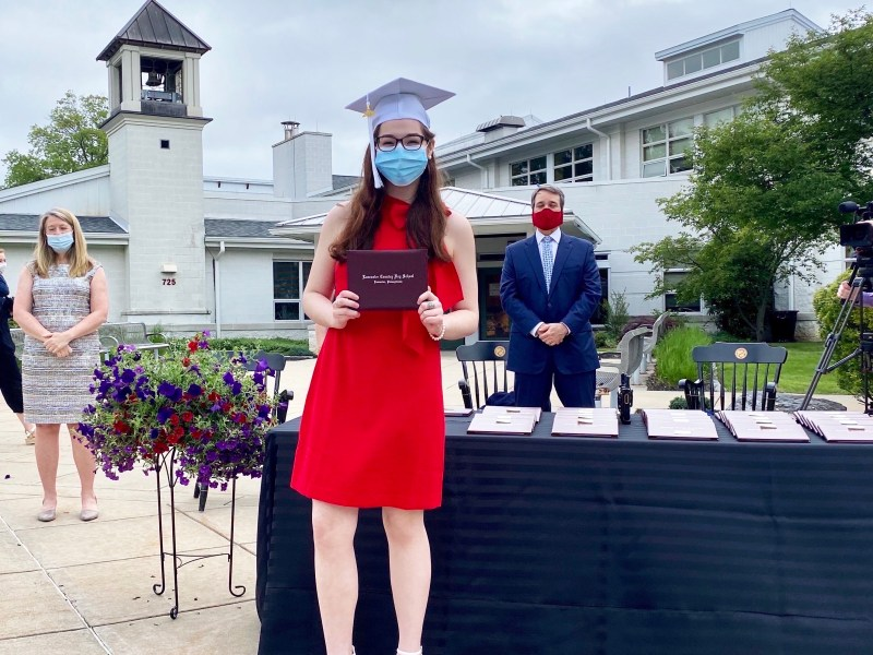 Olivia Gallucci graduating during the COVID pandemic (2020)