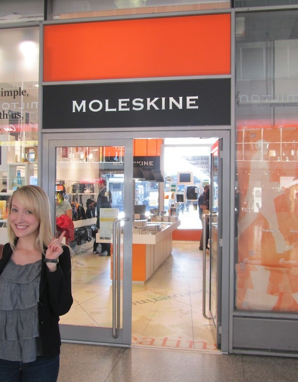 Olivia Goes to the Moleskine Store