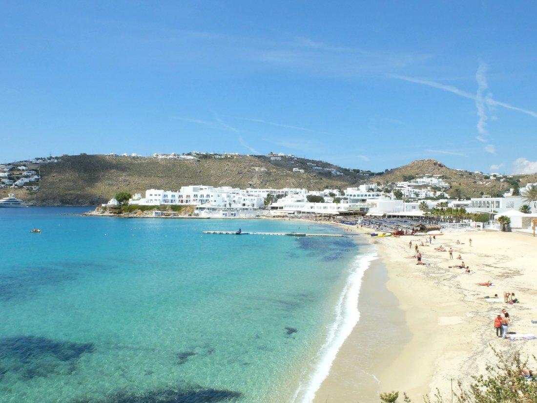 Olivia Leaves | Beaches of Mykonos | Platys Gialos
