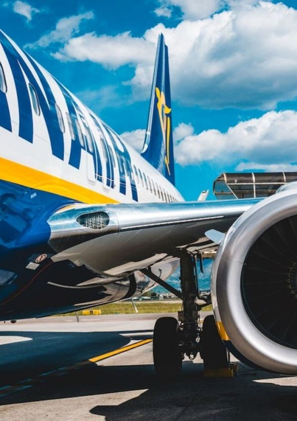 Flying on Ryanair airlines in Europe