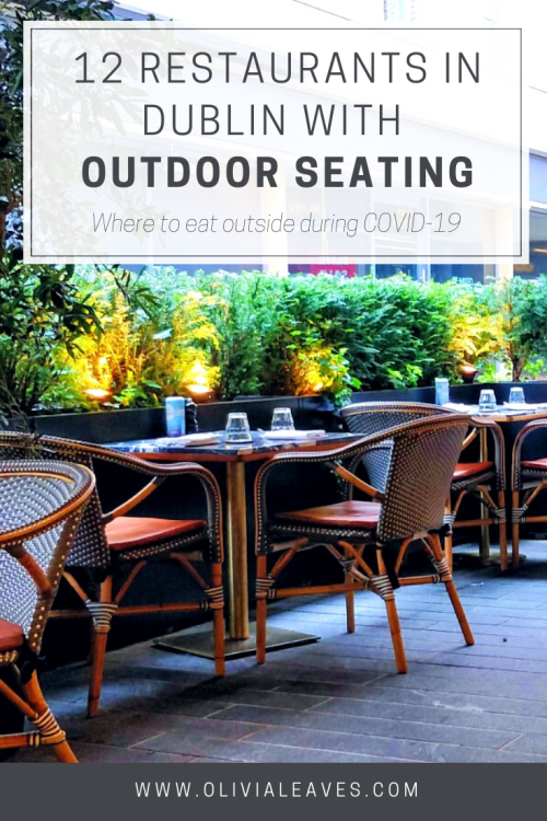 Dublin restaurants with outdoor seating