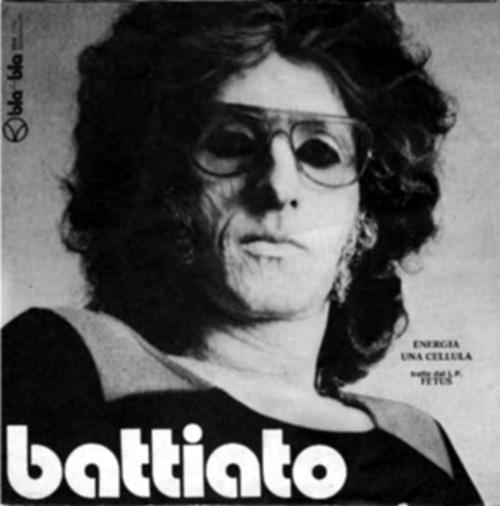 """Vecchia immagine di Franco Battiato dall'album """"Foetus"""""""
