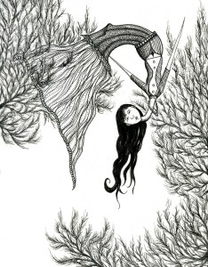 The Folly Lady nursery rhyme illustration