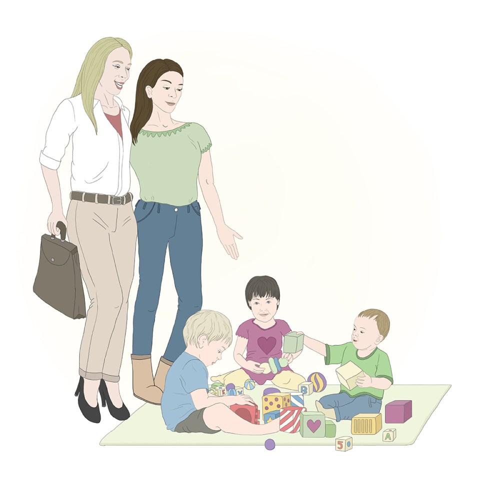 Toddler illustration by Olivia Linn