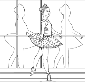 ballerina, coloring page by Olivia Linn